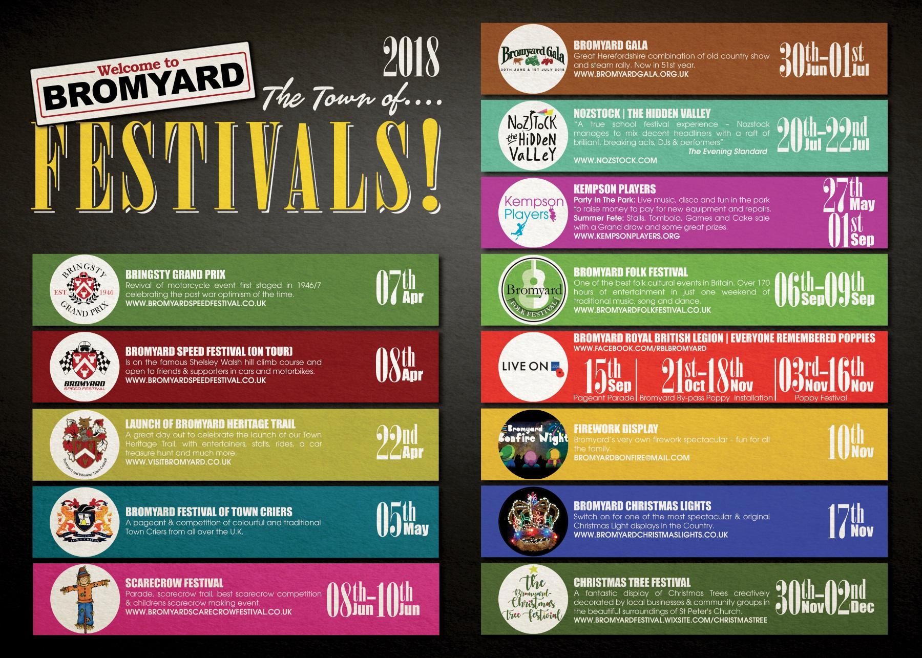bromyard festivals calendar 2018